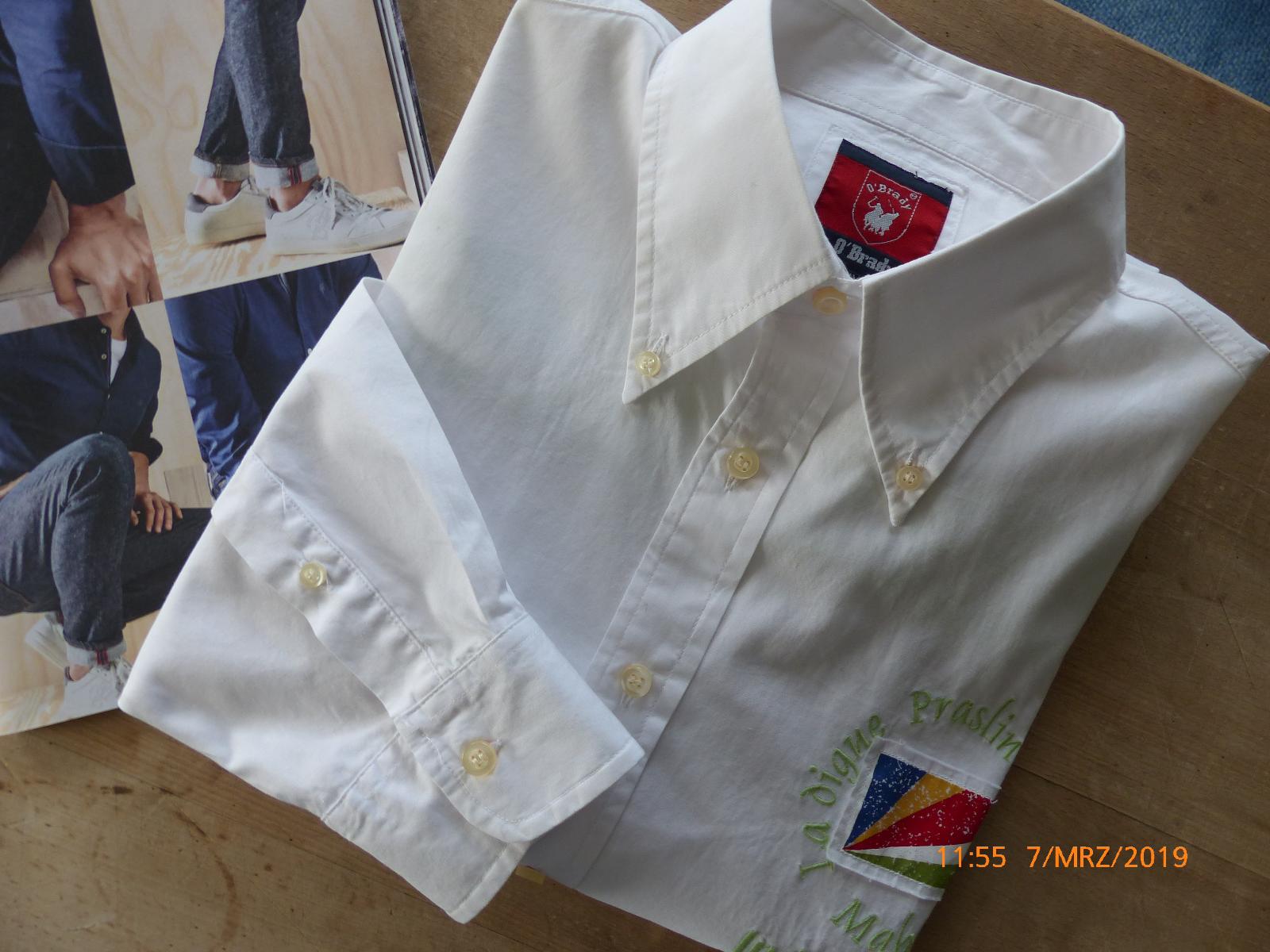 O`BRADY exklusiv Hemd (Langarm),    Weiß in topaktuellem Dessin, Gr. XXL    | Feinen Qualität  15edd1