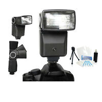 Pro Auto Flash Holiday Bundle For Panasonic Lumix Dmc-g6 Dmc-g10 Dmc-gf2