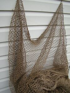 Authentic Used Fish Net ~ 10' x 10' ~ Decorative Fish Netting Decor ~ Nautical