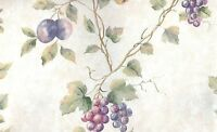 Wallpaper Waverly Grape, Plum,pear & Cherry Vine On Faux