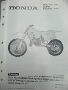 1992 Honda CR125R Set Up Instructions Wiring Diagram   eBayeBay