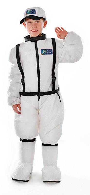 ASTRONAUT COSTUME, BOYS FANCY DRESS, BOOK WEEK, MEDIUM AGE 6-8, SPACE OUTFIT