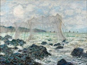 Fishing-nets-at-Pourville-by-Claude-Monet-Giclee-Museum-Size-Repro-on-Canvas