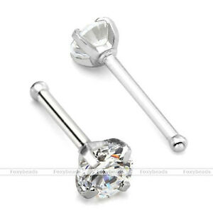 1x-316L-Stainless-Steel-Clear-2MM-Cubic-Zirconia-Nose-Bone-Stud-Ring-Piercing-FB