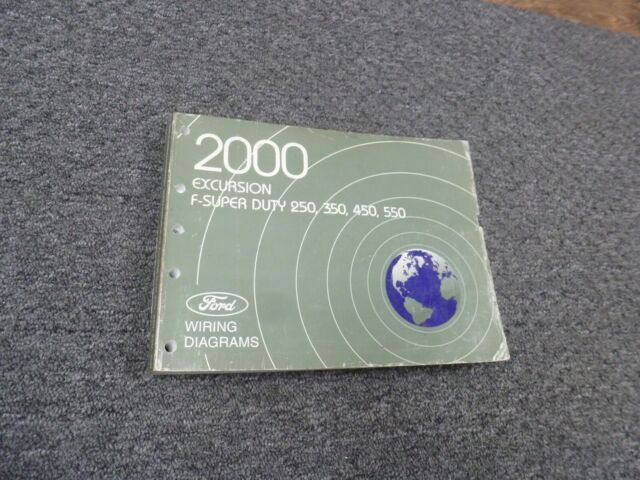 2000 Ford F450 Super Duty Truck Electrical Wiring Diagram Manual Xl Xlt Lariat