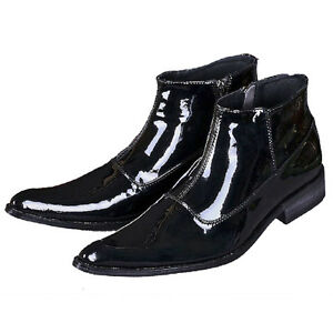 Fulinken-Size-5-12-Fashion-Leather-Pointed-Ankle-Boots-Mens-Formal-Dress-Shoes