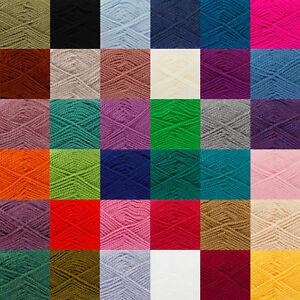Details about Chunky 100g Ball Acrylic Yarn Big Value Wool King Cole Free  Knitting Pattern