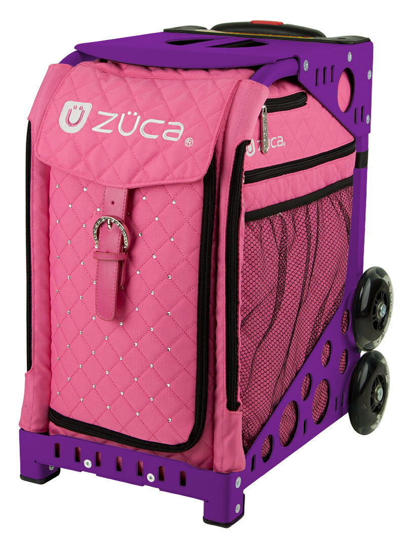 ZUCA Bag Pink  Hot Insert & Purple Frame w Flashing Wheels - FREE SEAT CUSHION  looking for sales agent