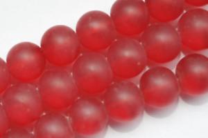70 perles de verre boules 6 mm ROUGE MAT O3-14