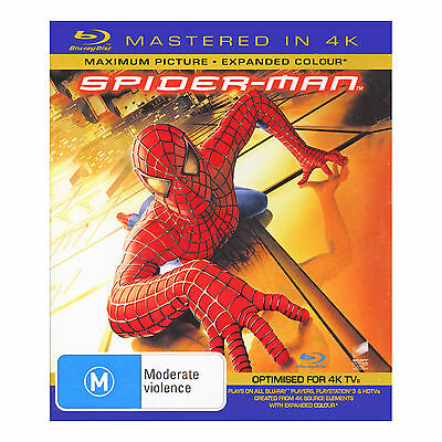 Spiderman Blu-Ray Brand New Region B Mastered in 4K Tobey Maguire, Kirsten Dunst