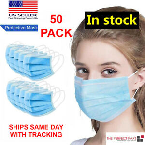 50-PCS-Face-Mask-MEDICAL-Surgical-Dental-Disposable-ASTM-LEVEL-3-Mouth-Cover-Ear