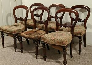Set-of-6-Victorian-Balloon-Back-Dining-Chairs-For-Repair-late-1800-039-s