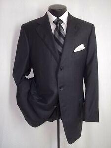 Ermenegildo-Zegna-Solid-Gray-3-Buttons-Side-Vents-Wool-Suit-Jacket-Coat-44-L