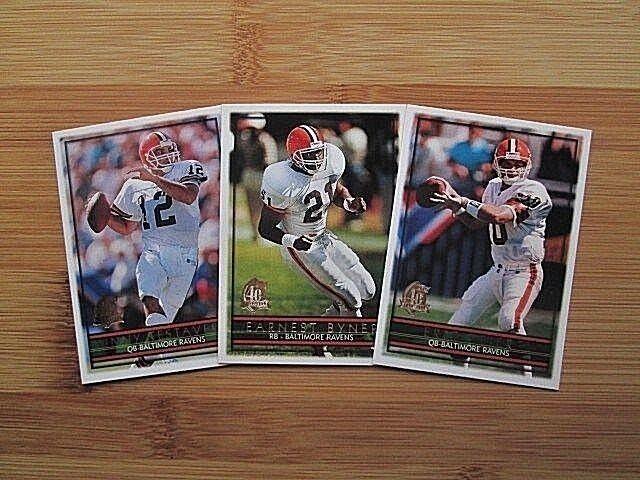 1996 Topps Football Cleveland Browns / Ravens TEAM SET
