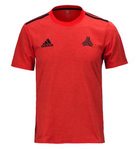 Adidas Men Tango Cage Training Jersey Red Shirts Soccer Tee Top ...