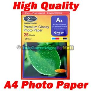 25-Sheets-High-Quality-Premium-Glossy-A4-260gsm-Gloss-Photo-Paper