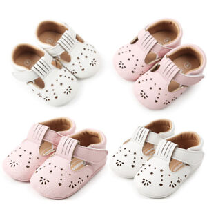 UK Baby Girls Princess Leather Hollow