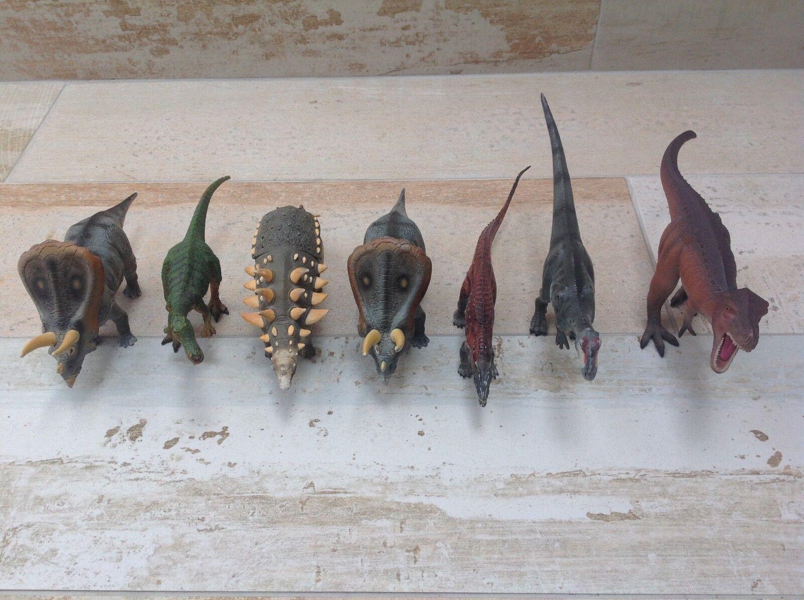 Natural history museum dinosaurier satz 7 zahlen offizielle   schleich   papo