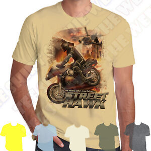 74f8556fca00 Street Hawk The Man The Machine T-shirt 100% Cotton 7 colours to ...