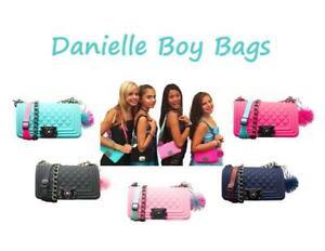 American-Jewel-Danielle-Boy-Bag-Silicone-Handbag-With-Pom-Pom-Keychain