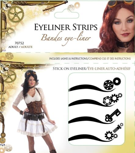 NEW SEALED SteamPunk Cosplay Victorian Style 8 Assorted Eyeliner Strips