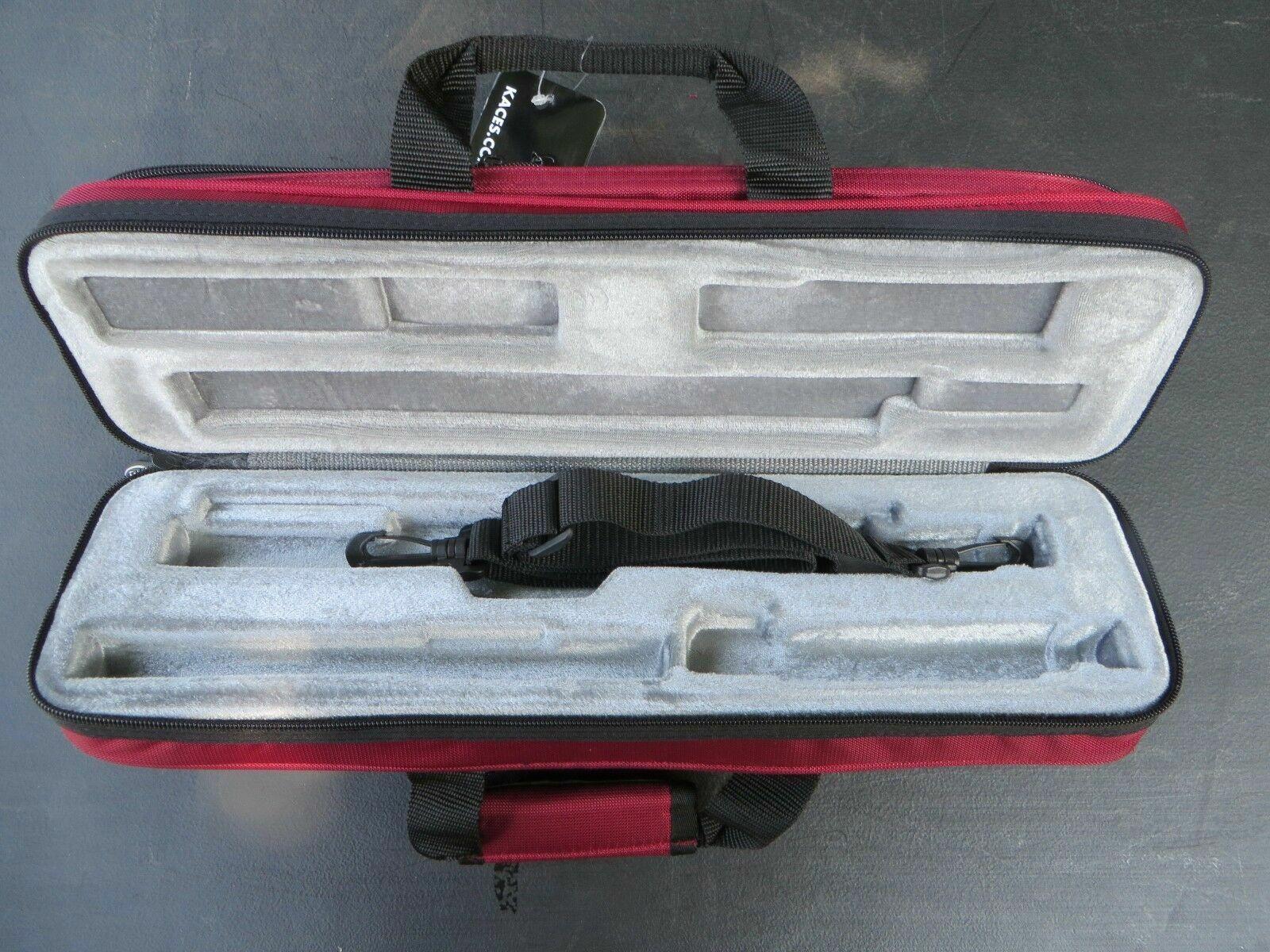 Genuine Kaces Blue Ultra-light Poly B or C Flute Case NEW Ships Fast!