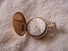 Antique Elgin Ladies Women's Pocket Watch Safety Pinion Dueber Case