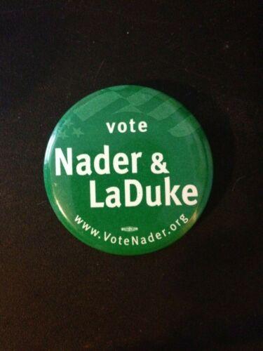 Nader LaDuke 2000 Presidential Campaign Political Pinback Badge Button 1.6