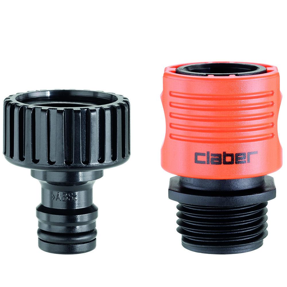 Claber Outdoor Faucet to Garden Hose Quick Connector Set
