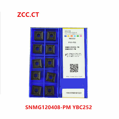 10pcs ZCC.CT SNMG120408-PM YBC252 SNMG432-PM NEW Carbide Insert