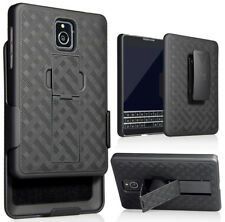 Nakedcellphone Blackberry Passport Holster Case Black Kickstand Cover Belt