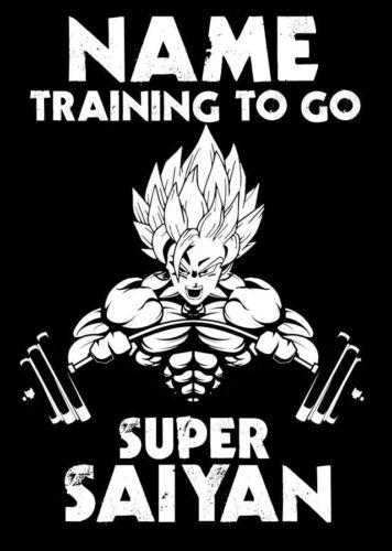 Personalised Gym//Training To Go Super Saiyan Dragon Ball Z Spoof Birthday Card