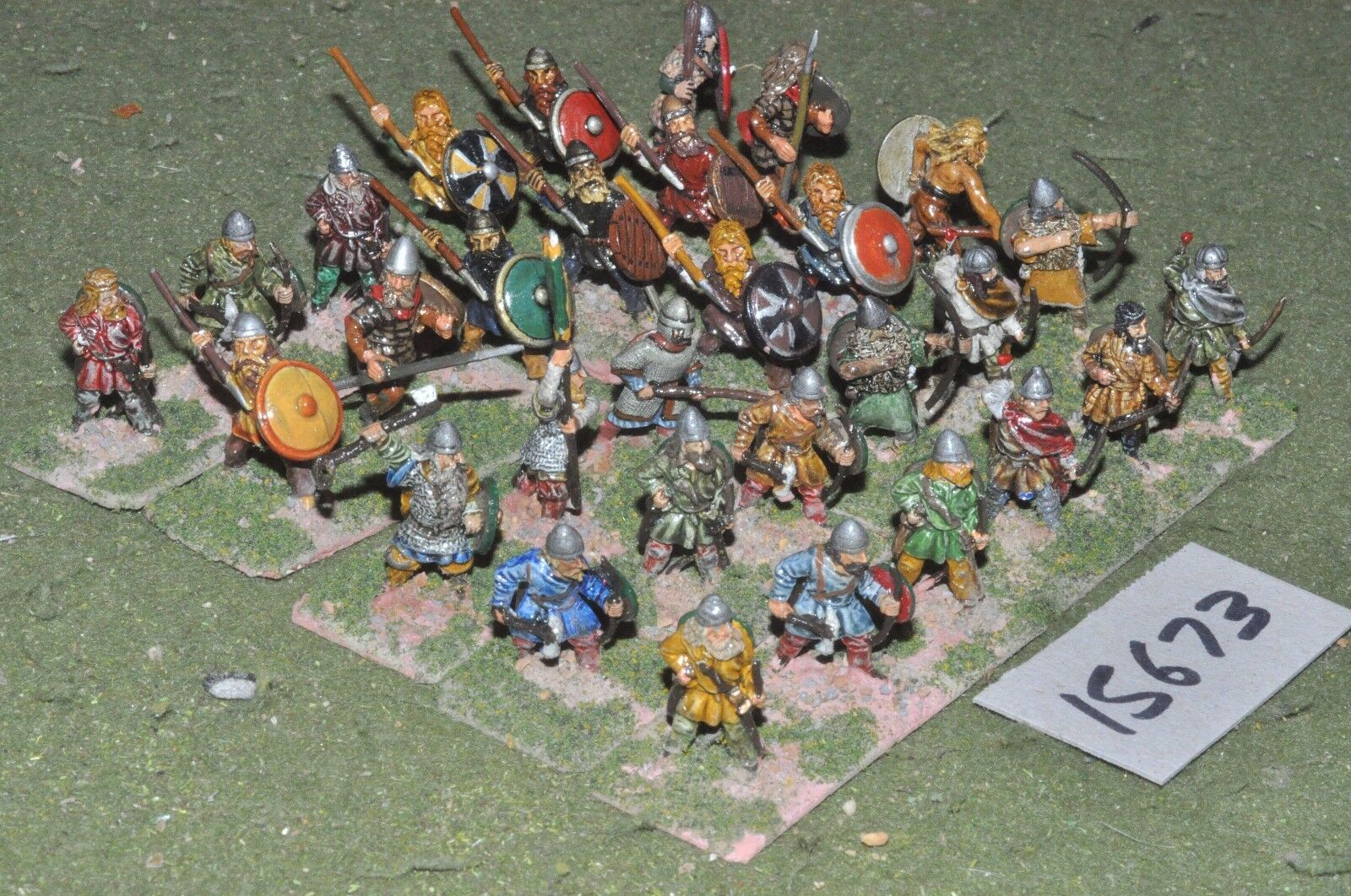 25mm dark ages   viking - warband 30 figs - inf (15673)