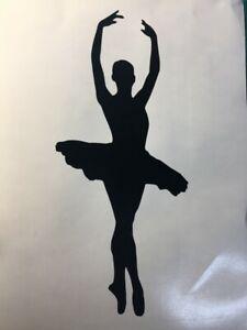 Window Wall Display Vinyl Sticker Ballerina Silhouette Decal Ballet Dancing