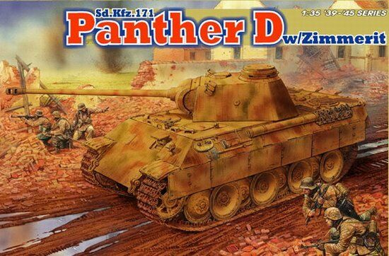 Dragon  35 Panther Ausf.D w Zimmerit Coating