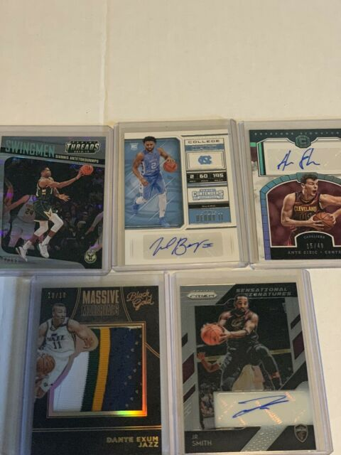 NBA 5 Card Auto Relic Insert #d Lot.  Giannis