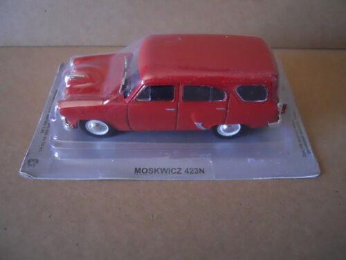MV26 Legendary Cars MOSKVITCH 423 N RED ROSSA Die Cast 1:43