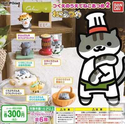 BANDAI NEKO ATSUME KITTY COLLECTOR DESKTOP FIGURE VOLUME 3 SET 6 PIECES  NEW