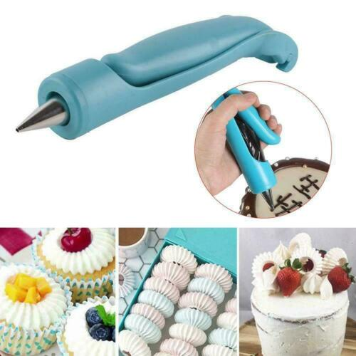 Baking Pen Kit Pastry Icing Bag Nozzle Tips Fondant Decorating Cake Sugar C R8Y4