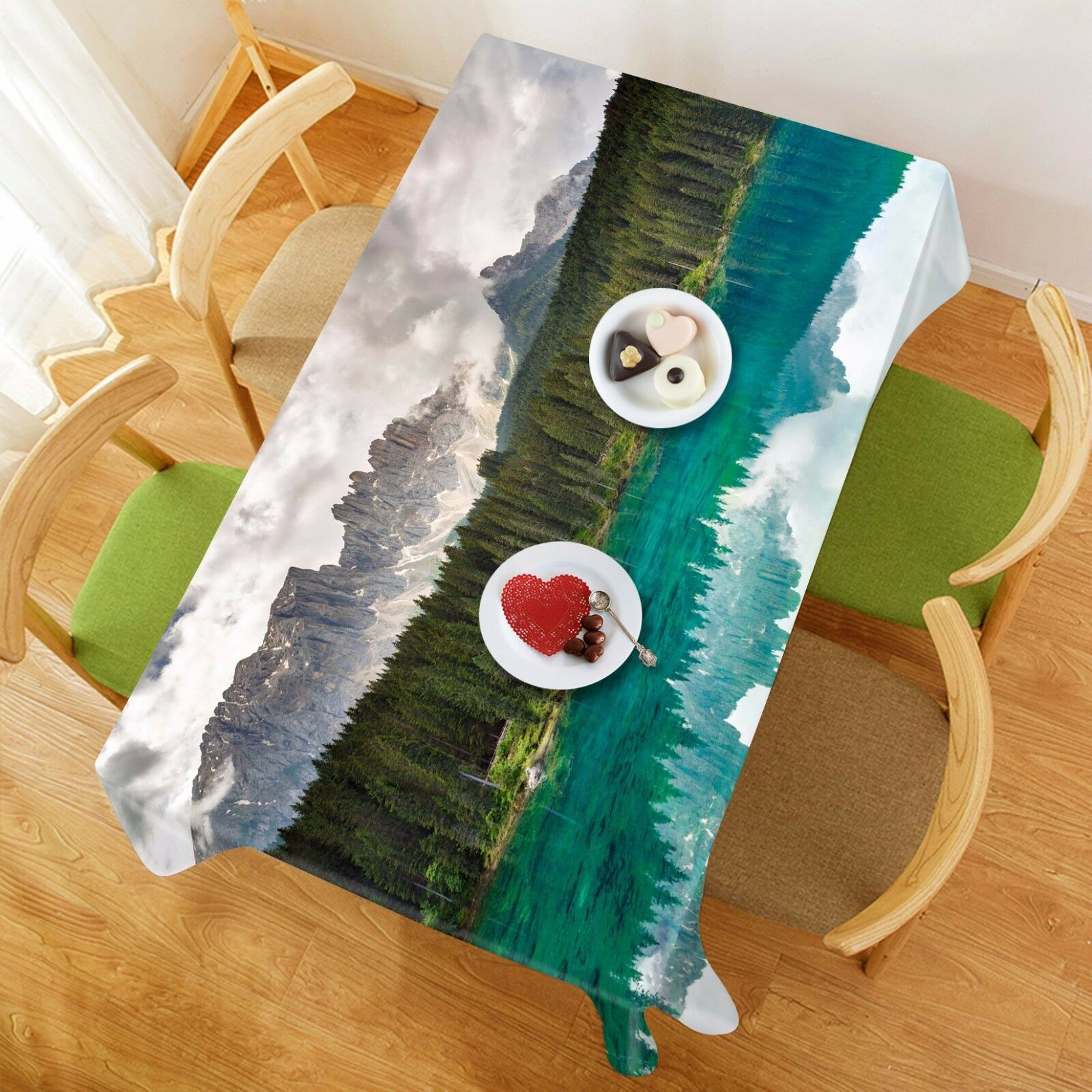 3D Lake View 468 Tablecloth Table Cover Cloth Birthday Party Event AJ WALLPAPER
