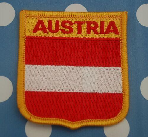 Österreich  Aufnäher Aufbügler Wappen Patch Fahne