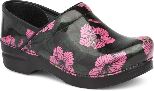 Dansko Professional Clog Pink Hibiscus Patent Women s sizes 36-42 6-12 NEW fdb4d8242