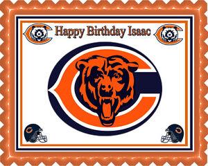 Surprising Chicago Bears Edible Birthday Cake Topper Or Cupcake Topper Funny Birthday Cards Online Fluifree Goldxyz