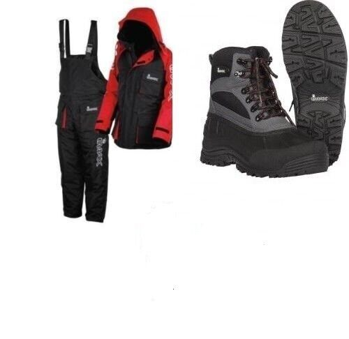 IMAX THERMO SUIT 2PC THERMAL SEA FISHING 100% WATERPROOF + IMAX BOOTS