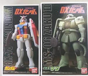 Bandai Dx Sofvi Doux Combinaison Vinyle Gundam & Zaku Ii 2 Ensemble De Carrosserie Étui