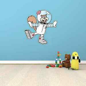 Sandy Cheeks SpongeBob Funny Cartoon Kids Room Wall Decor Sticker ...