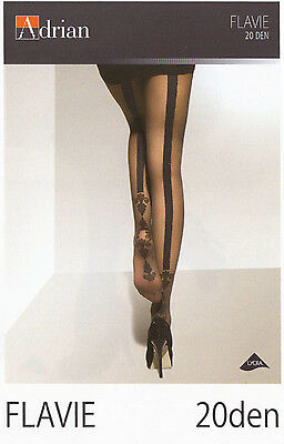 """Back Seamed Tights Adrian """"FLAVIE"""" 20 den Patterned Tights"""