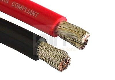 Red 110Amp 16mm Flexible Battery Cable - Tinned Conductors 1mtr Length - Marine