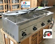 New 4 Burner Compartment Deep Fryer Model Fy6natural Gas Propane Use Lp Outdoor