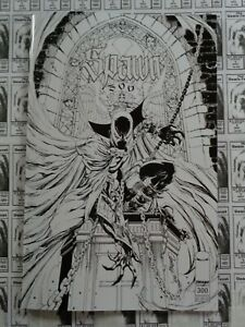 Spawn-1992-Image-300-J-Scott-Campbell-B-W-Variant-McFarlane-Snyder-NM